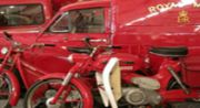 Royal Mail vans and cycles